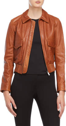 Helmut Lang Cognac Leather Jacket