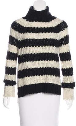 Pam & Gela Striped Turtleneck Sweater