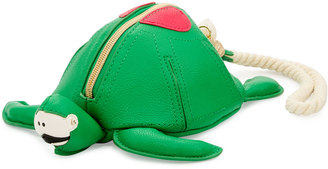 Betsey Johnson Turtle Faux-Leather Wristlet, Green $40 thestylecure.com
