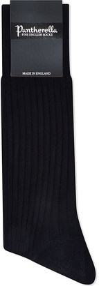 Pantherella Ribbed cotton-blend socks $14.50 thestylecure.com