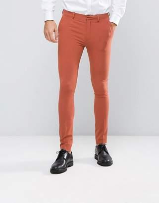 Asos Design Super Skinny Suit Pants In Coral