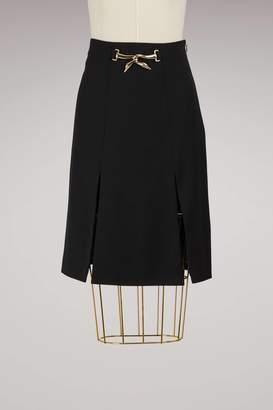 Lanvin Swan Belted Skirt