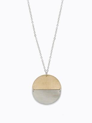Fashionable Two-Tone Contempo Necklace