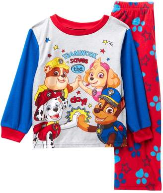 b190a33384 Ame Paw Patrol Teamwork Fleece Pajama Set (Toddler Boys)
