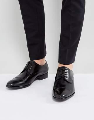 Aldo Galerrange Derby Leather Shoes In Black