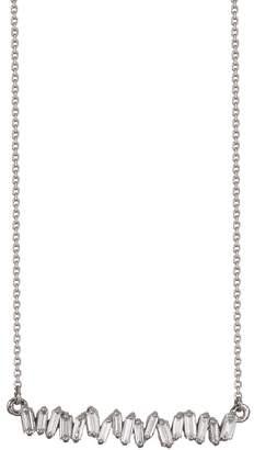 Suzanne Kalan Signature Baguette Diamond Firework Necklace - White Gold