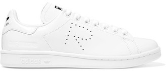 Adidas Originals - + Raf Simons Stan Smith Perforated Leather Sneakers - White $400 thestylecure.com