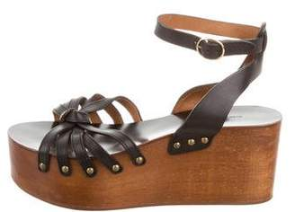 Etoile Isabel Marant Leather Multistrap Wedges