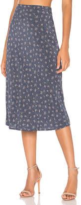 AUGUSTE Jasmine Bias Slip Midi Skirt