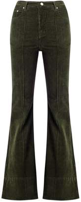 Amapô high waist velvet flared trousers