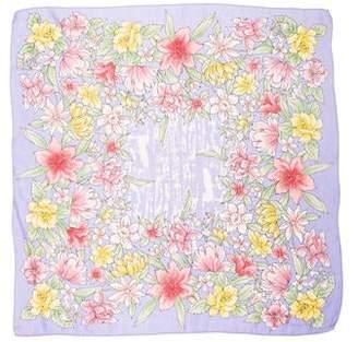 Oscar de la Renta Floral Print Scarf