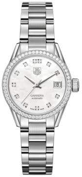 Tag Heuer WAR2415.BA0776 Carrera Lady Mother-of-Pearl Diamond Accent Watch