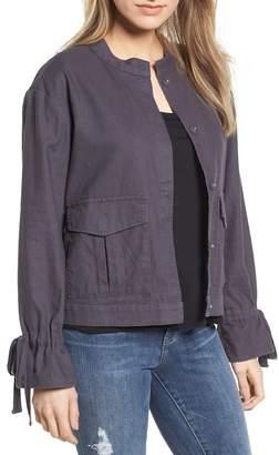 Caslon Tie Sleeve Linen & Cotton Jacket