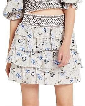 Evans Aje Ruffle Skirt