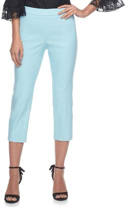 Elle Women's Pull-On Back Seam Capri Pants