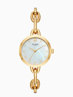 Kate Spade Gold-tone chain link bracelet watch