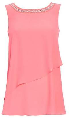 Wallis Petite Pink Embellished Top