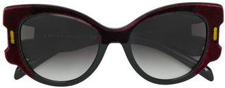 Prada velvet oversized sunglasses