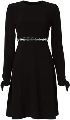 Proenza Schouler Metal-Embellished Cutout Mini Dress