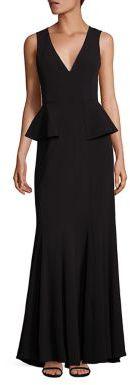 BCBGMAXAZRIA Francesca Peplum Gown $398 thestylecure.com