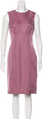 J. Mendel Sleeveless Sheath Dress Pink Sleeveless Sheath Dress