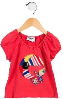 Rykiel Enfant Girls' Embellished Ruffled Top