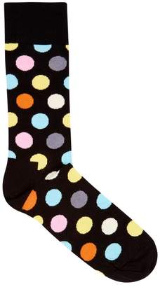 Happy Socks Big Dot Cotton Blend Socks