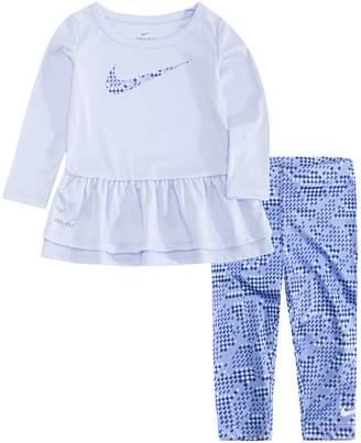 Nike Girls 4-6x Peplum-Hem Tunic & Print Leggings Set