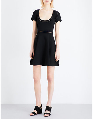 Sandro Ladder-stitch knitted mini dress $255 thestylecure.com
