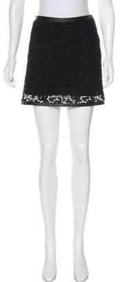 Barbara Bui Embroidered Mini Skirt