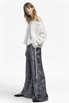 French Connection Brigitte Devoré Velvet Flared Trouser