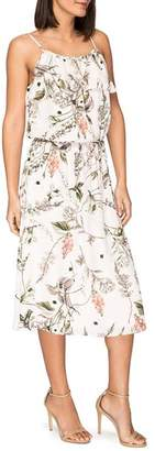 Bobeau B Collection by Maya Floral-Print Midi Dress