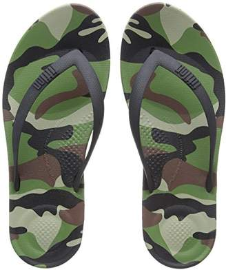 FitFlop Men's IQUSHION CAMO Open Toe Sandals,45 EU
