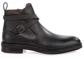 Salvatore Ferragamo Leather Crisscross Ankle Boots
