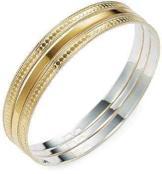 Anna Beck Jewelry Women's Gold Bangles (Set of 3)