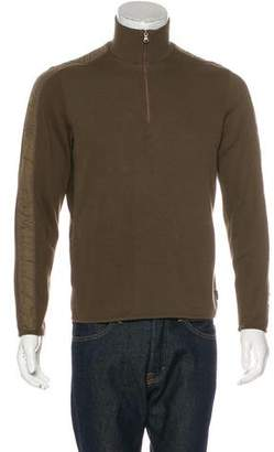 HUGO BOSS Boss by Woven Half-Zip Sweater