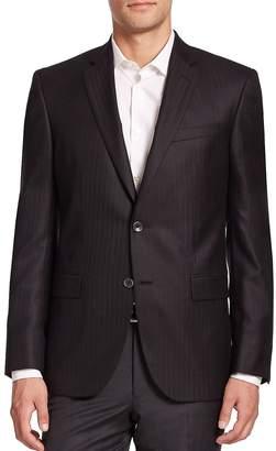 Jack Victor Men's COLLECTION Cashmere-Silk Striped Blazer