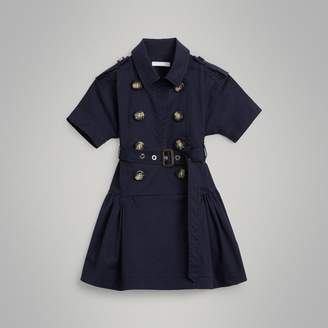 Burberry Childrens Stretch Cotton Trench Dress