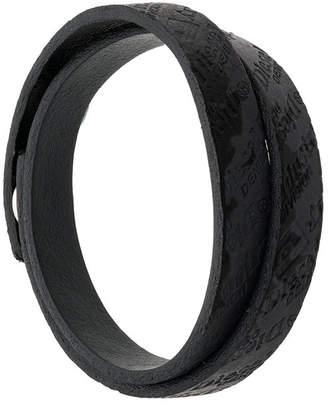 Diesel logo embossed bracelet