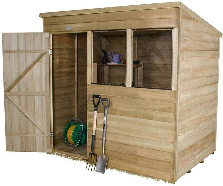 FOREST 7x5ft Overlap Pent Shed
