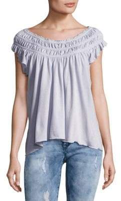 Free People Ruched Gathered Top
