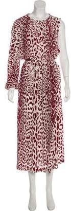 Robert Rodriguez Silk Printed Maxi Dress