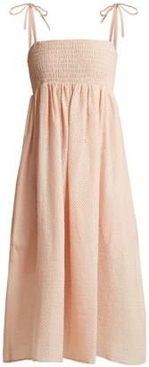 Marysia Swim Broderie-anglaise cotton midi dress
