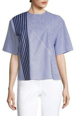 Piazza Sempione Striped Cotton Top