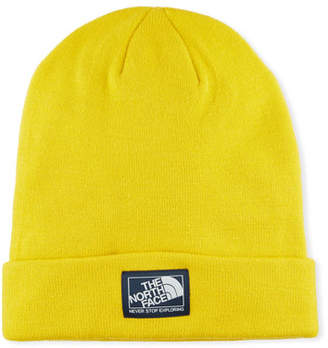 The North Face Men's Dock Worker Fold-Over Beanie, Yellow