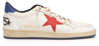 Golden Goose Sneakers Ball Star Low Top Leather Trainers - Mens - White Multi