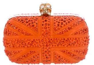 Alexander McQueen Embellished Brittania Box Clutch