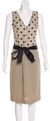 Valentino Linen Polka Dot Dress