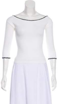 Anna Molinari Three-Quarter Sleeve Off-The-Shoulder Top