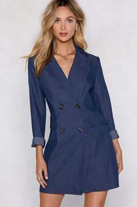 Nasty Gal Mind Your Business Denim Blazer Dress
